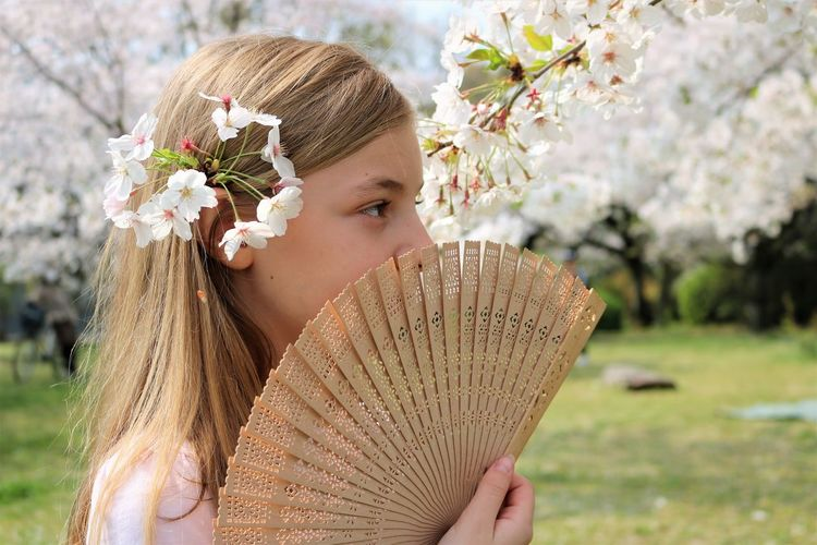 Blonde in Blossoms One Person Flower Flowering Plant Headshot Leisure Activity Nature Portrait Holding Real People Beauty In Nature Hair Cherry Blossom Springtime Flower Head Looking Hairstyle Day Spring Fan Folding Fan Covering Innocence Childhood Park Long Hair Blond Hair Blonde Girl Blonde Hair Blonde Beauty In Nature Happiness My Best Photo