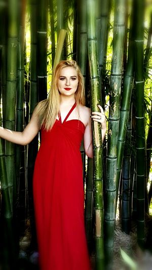 Bamboo Reddress Lipsmatchthedress Teenmodel Seattlemodel First Eyeem Photo