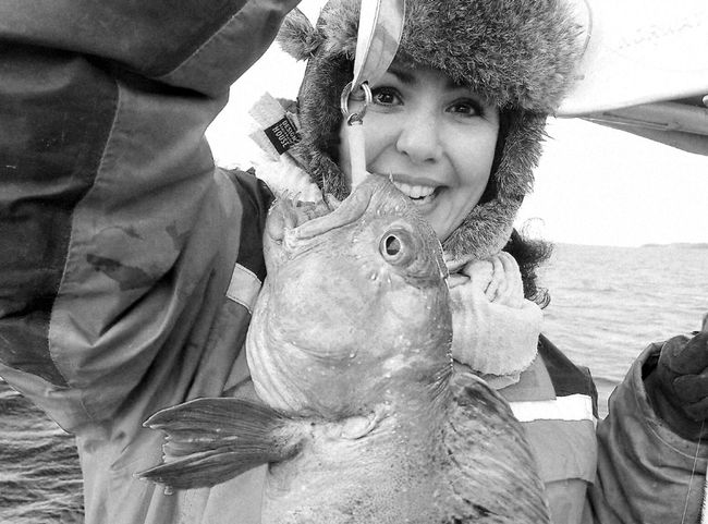 Uglyfish Wolffish Fun Happiness Smiling Archival Close-up Portrait Outdoors Fishing Life Winter Sea Fishing Boat Seascape Northnorway Travel Destinations Adventure Norway Eyemcaptured Women Around The World