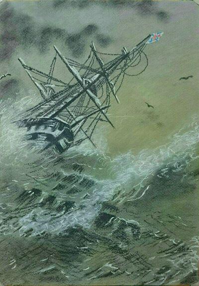 Рисунок пастелью.Айвазовский. рисунок Пастель Море Айвазовский картина