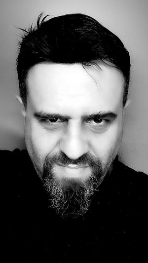 Beard Looking At Camera Real People Portrait Front View One Person Human Face