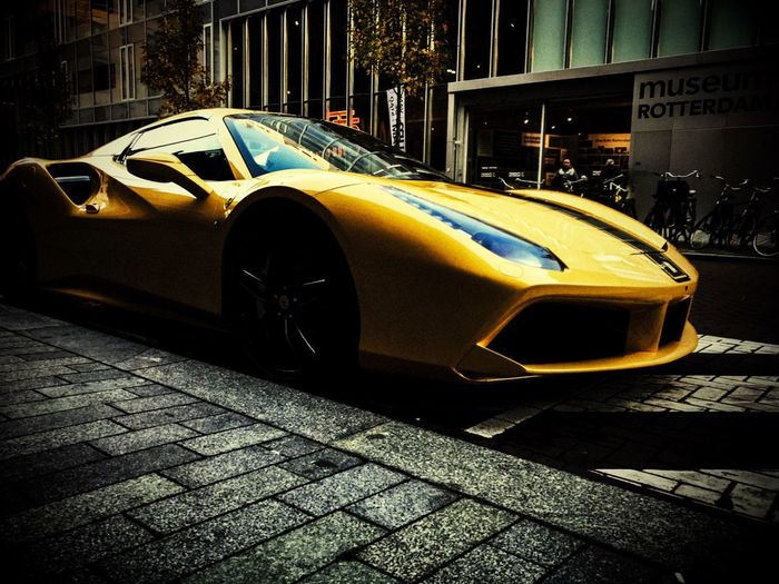 Ferrari2 Rotterdam, Netherlands Car Mode Of Transportation Motor Vehicle Transportation Land Vehicle City Street Travel Vintage Car Architecture Built Structure Building Exterior No People Stationary Outdoors Taxi Parking Day Sunlight