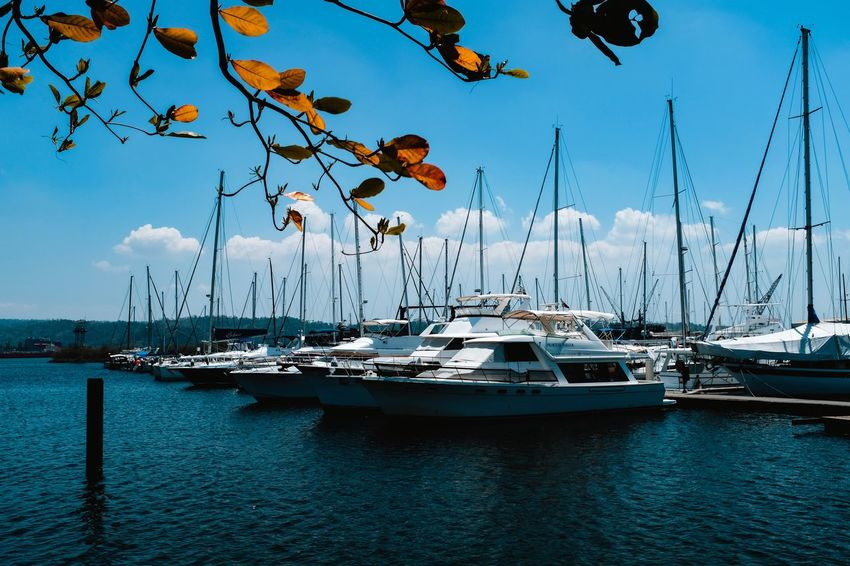 Nautical Vessel Transportation Boat Water Sea Harbor Yacht Travel Destinations Mode Of Transport Moored Mast Sky Nature No People Outdoors Sailboat Day Scenics Waterfront Tranquility Fujifilm