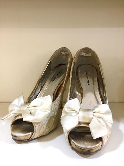 Wedding shoes Shoe Pair Indoors  No People Close-up Day Weddingshoes