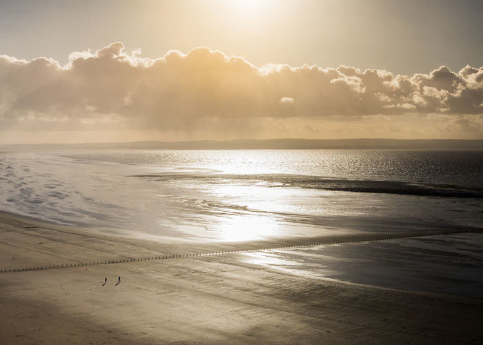 Beach Beauty In Nature Day Horizon Over Water Idyllic Nature No People Outdoors Sand Scenics Sea Sky Sun Sunbeam Sunlight Sunset Tranquil Scene Tranquility Water Wave