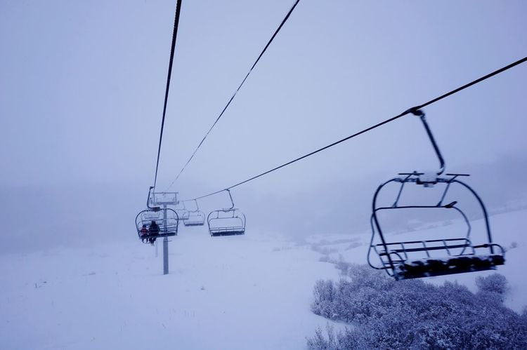 It's Cold Outside The skilift Skilift Chairlift Silhouettes Lines Leading Lines Freezing Cold Freezing Fog Fogging Winter Winterscapes My Winter Favorites Wintertime Cold Empty Chairs White Cold Weather Mountain Mountain View Enjoying Life Open Edit Snow Day Cold Day Winter Trees