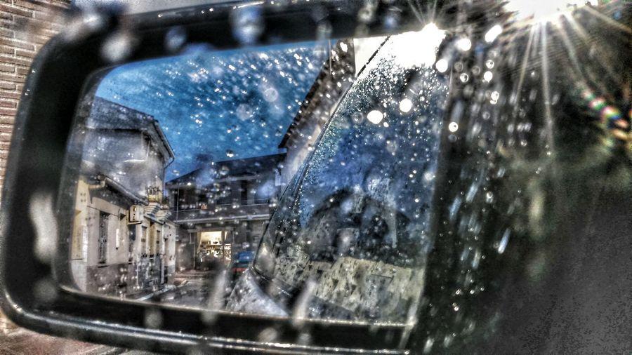 Espejo Espejos Espejo De Agua Lluvia Llueve Rain Raining Day Retrovisor Retroviseur Capture The Moment. Captured Moment Gotas De Lluvia Gotas Sony Xperia Photography.