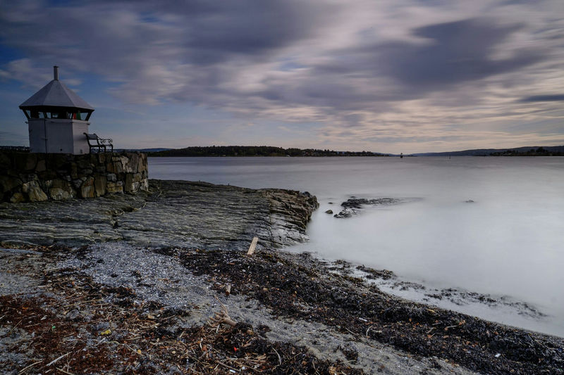 Scenic View Of Sea Against Cloudy Sky In Oslo, Norway