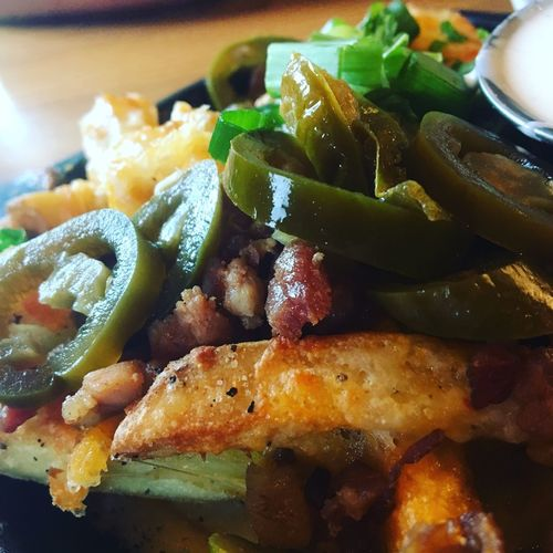 Cheese fries from Chili's. Food Ready-to-eat Close-up Indoors  Plate No People Day