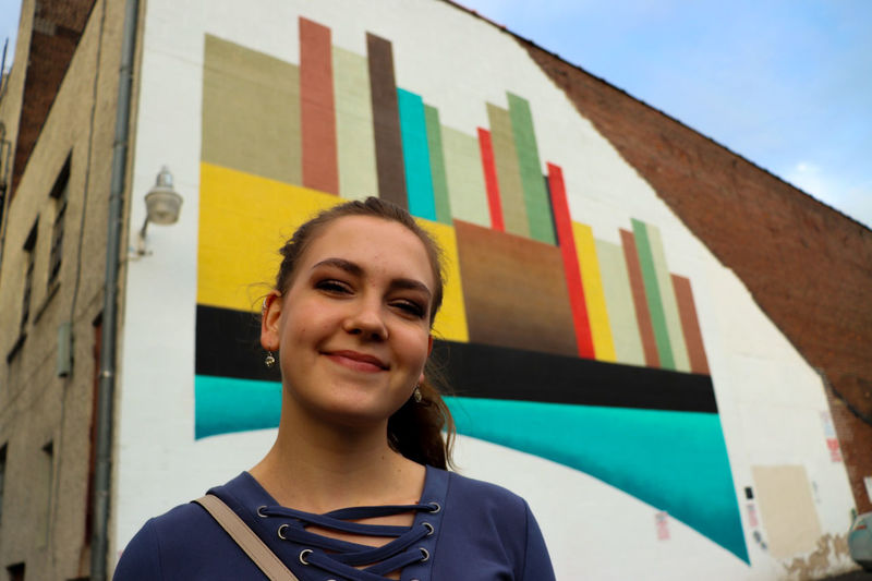 EyeEm Best Shots Women Who Inspire You Female Model Chosen One Starting Point EyeEm Selects Going Places ♥  Young Women Portrait Multi Colored City Headshot Smiling Beautiful Woman Street Art Individuality Front View Mural Thoughtful