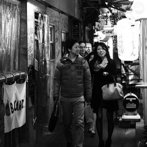 City Lights City Life Street Light Night Nightphotography Snapshot People Snapshots Of Life B&w Street Photography Streetphotography_bw City Street Winter Kichijoji 吉祥寺 , Tokyo Japan
