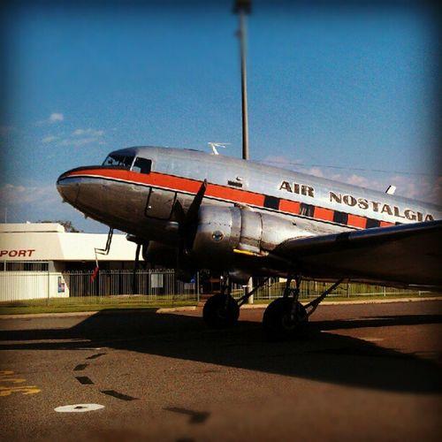DC3 at Broken Hill airport DC3 Brokenhill Avgeek Aeroplane aircraft airport outback