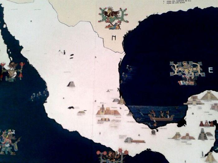 México prehispánico Map Mexican Culture