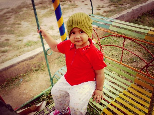 2yrs old Balqis,, went to a near kidergarten school to play there. Little Girl My Little Sister  Cute Baby Colorful