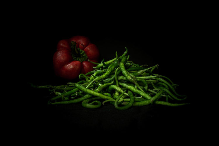 Bean Black Background Close-up Copy Space Cut Out Food Food And Drink Freshness Fruit Green Color Healthy Eating Indoors  No People Organic Raw Food Red Still Life Studio Shot Vegetable Vegetarian Food Wellbeing