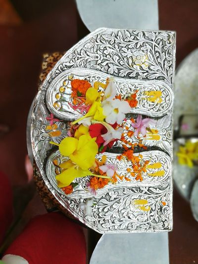 Indoors  Close-up Day No People Gift Multi Colored Flower Saibaba  CharanSparsh