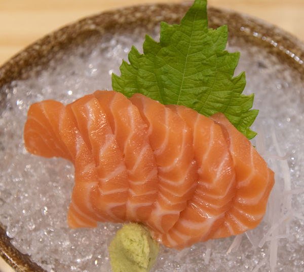 Food Food And Drink Freshness Healthy Eating Indoors  Close-up No People Seafood Wellbeing Ready-to-eat Leaf Japanese Food SLICE Serving Size High Angle View Plant Part Sashimi  Plate Asian Food Meat Herb Garnish