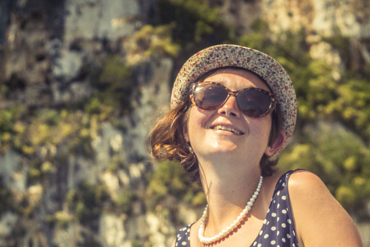 Beautiful Woman Close-up Day Focus On Foreground Headshot Lifestyles Nature Necklace One Person Outdoors Real People Sunglasses Tree Young Adult Young Women