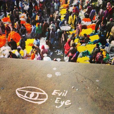 "The ""Evil Eye"" on the Hooghly's Flower Fest Tour. Hooghlysflowerfest Flowermarket Incrediblecalcutta Flower strange"