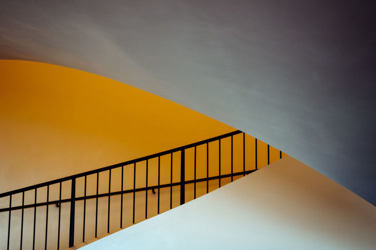 Architecture Built Structure Day Low Angle View Minimalism Minimalobsession No People Outdoors Railing Staircase Steps Steps And Staircases Fresh on Market 2017 Break The Mold Paint The Town Yellow