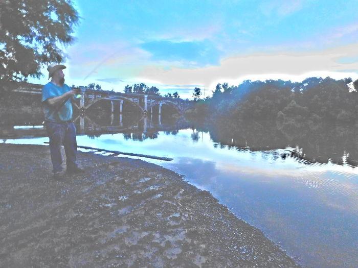 Fishing at the river. Worthathousandwords Illustration FishingforPeace Iloveit Ilovehim River Enjoying Life Taking Photos River View River Collection Fishing Time Fishermen Fishermen's Life