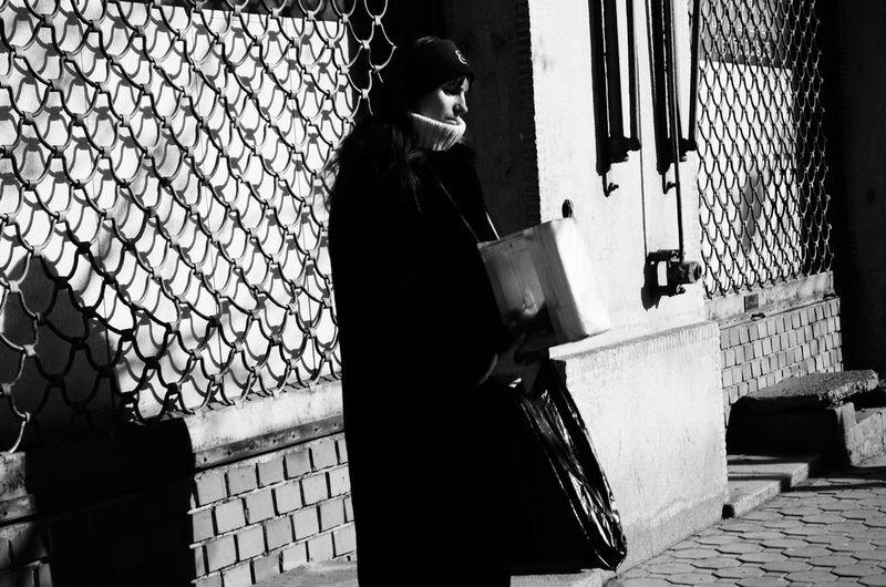 Blackandwhite Broken Girl Poor  Streetphotography