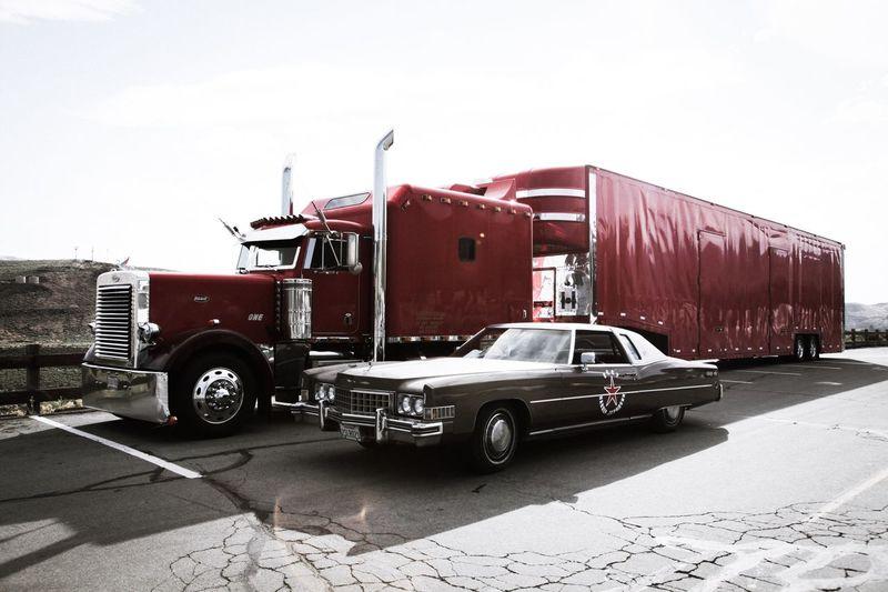 Peterbilt USAtrip USA Cadillac Cadillac Eldorado LittleBigBrother Freight Transportation Truck Brothers