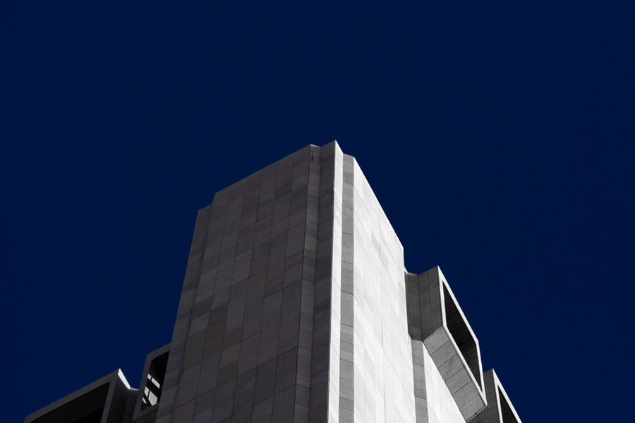 Long Line Building New York City Architecture Blue Building Building Exterior Built Structure Clear Sky Copy Space Day Longline Low Angle View Modern No People Outdoors Sky