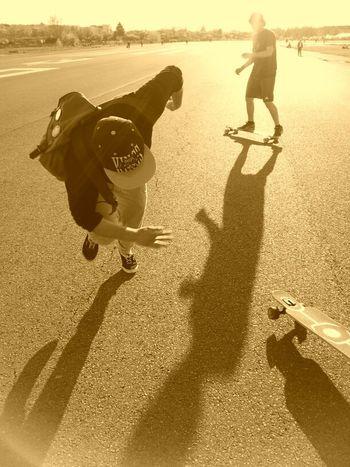 my bf while longboarding... EyeEm Best Shots