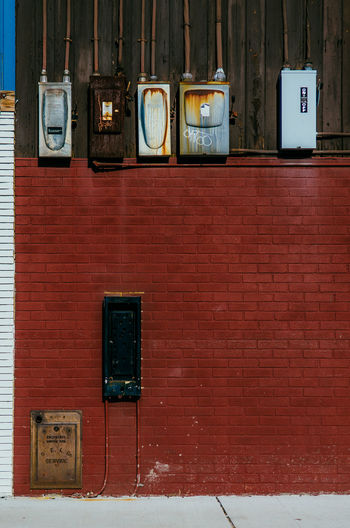 Brick Wall Broadcasting Building Exterior Day No People Old-fashioned Outdoors Payphone