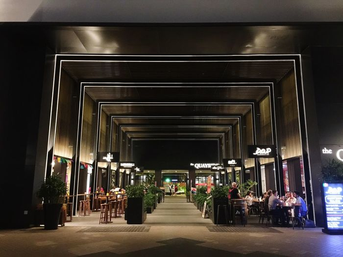 Modern architecture Neighborhood Riverside Fine Dining Restaurant Nightphotography The Way Forward Architecture Real People