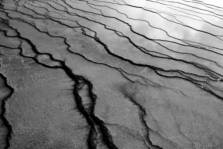 Full Frame Shot Of Natural Pattern Landscape In Yellowstone National Park