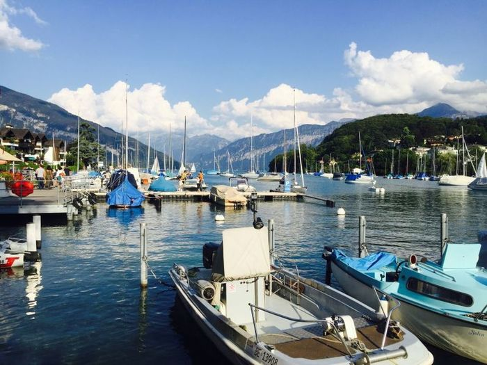 Spiez, Switzerland. Relaxing Enjoying Life Travel Holiday