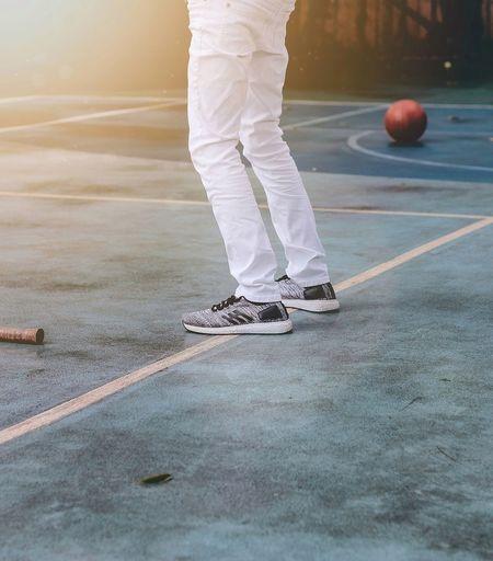 Abstract. EyeEm Best Shots Canon Photography Pose Fashion Basketball Low Section Sport Court Tennis Human Leg Standing Taking A Shot - Sport Sportsman Men Playing Tennis Ball 17.62°