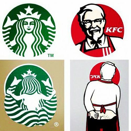 The Truth Behind The Logos Srarbucks KFC