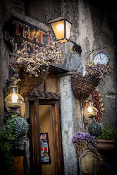 Spoleto Spoleto-Umbria <3 Building Exterior Clock Flower No People Outdoors Restaurant Trattoria