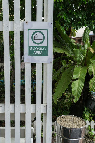 smoking area Day Green Color Leaf No People Outdoors Sign Smoking Smoking Area  Tree