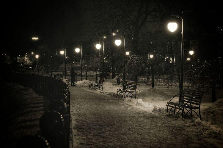 Night Illuminated Street Light Lighting Equipment No People Outdoors