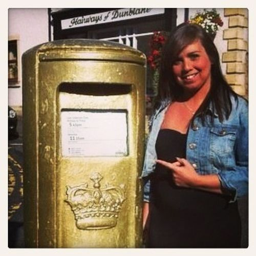 TBT  Last year, Andy Murray's Postbox, Dunblane.