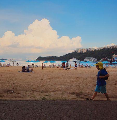 Travel In HongKong Discovery Bay Beach Cute Boy , IPhoneography