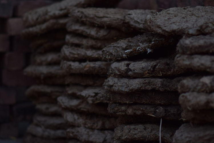 Close-up of stone stack
