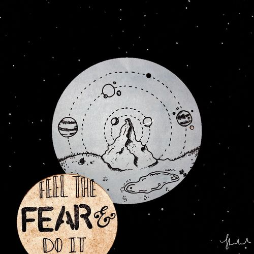 Fear Soace Graphic Design Design Typography Stars First Eyeem Photo Mountain Drawing Edit