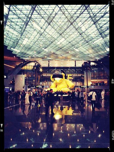 Hamad International Airport (DOH) Qatar teddy bear