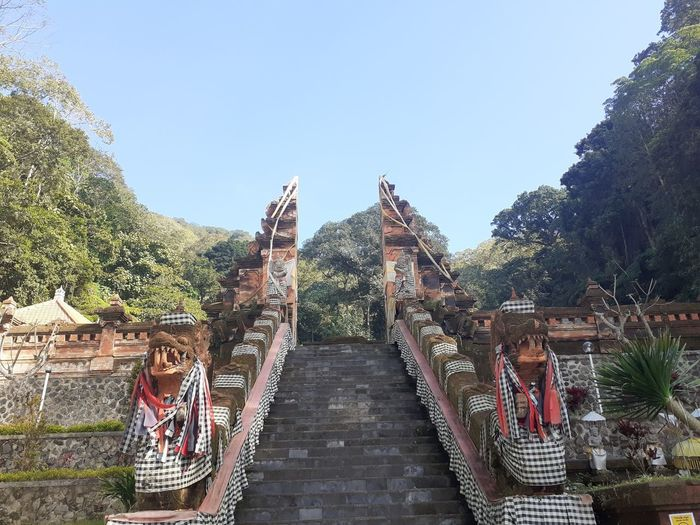 Tourists at a temple