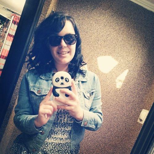 Schoole Sunglasses Pandzia Panda phone smartphon jeans curly hair homegirl followme selfie TagsForLike instapic instalike instaphoto like4like follow4follow f4f l4l