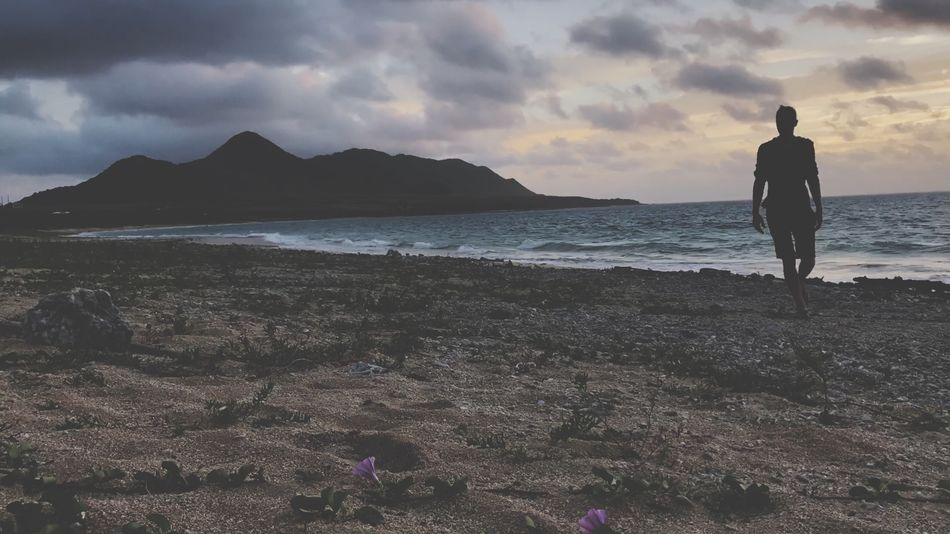 Betterlandscapes Abandoned Places Vacations Travel Destinations Ishigaki Island PTGallery Sky Sea Cloud - Sky Nature Scenics One Person Sunset Water Beauty In Nature Beach Full Length Real People Lifestyles Men One Man Only Outdoors Standing Horizon Over Water Mountain Day EyeEm Ready