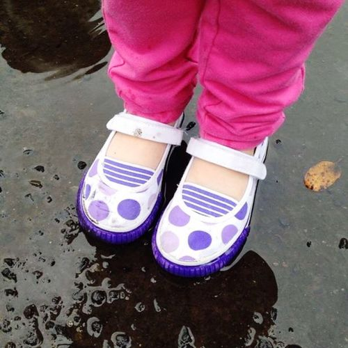 Playing In The Rain Shoes Little Girl Shoes Colorful IPS2015Color IPhoneography Mobiography