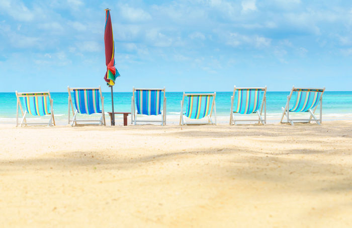 Summer Time  Beach Photography Beach Chairs Beach Beds Vacations Vacation Time Vacation Activities Relaxing Moments Relax Time  Holidays Holiday And Relaxing Holiday At The Beach Thailand Beach Sea And Sky Clouds And Sky Clear Water Sand And Sea Summer