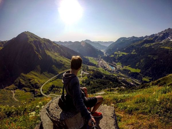Mountain Gotthardpass Nature One Person Landscape Hiking Lifestyles Adventure Vacations