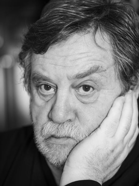 Black and white portrait of pensive mature man Man Must Pensive Adult Adults Only Black And White Breaded Caucasian Close-up Day Headshot Human Body Part Human Eye Human Face Human Hand Indoors  Lifestyles Looking At Camera One Person People Portrait Real People Senior Adult Senior Men Serious Wrinkled